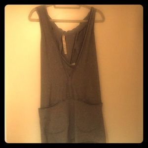 Free People beach line. Grey tank hoodie long.